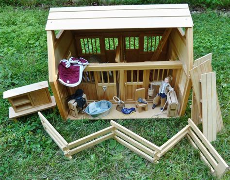 Kids Toys Wooden Stable For Breyer