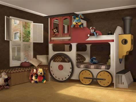 Kids Train Bed Plans
