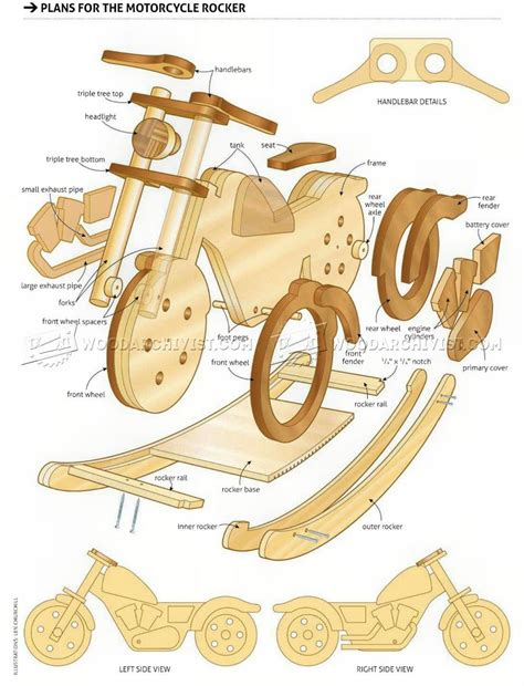Kids Wooden Rocking Motorcycle Plans