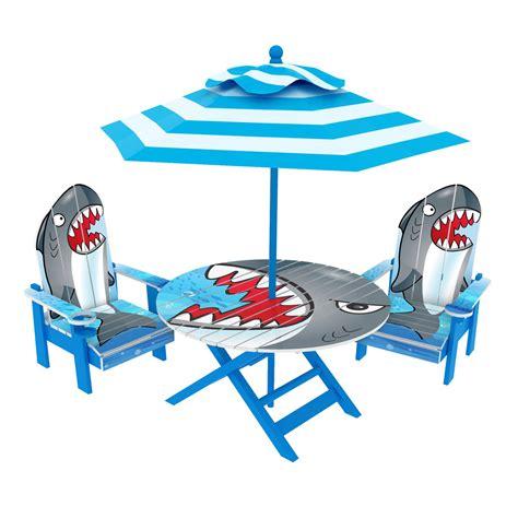 Kids-Adirondack-Chairs-With-Table-Set-Shark