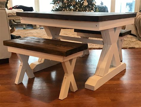 Kids-Farmhouse-Table-With-Benches