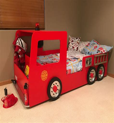 Kids-Fire-Truck-Bed-Plans
