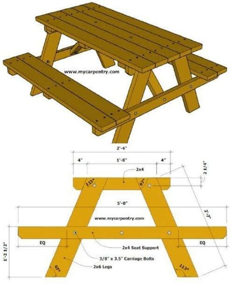 Kids-Picnic-Table-Plans-2x4