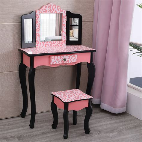 Kids-Vanity-Table-And-Stool
