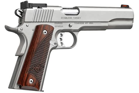 Kimber Target Stainless 10mm 6 Inch And 22 Pistol For Cheap