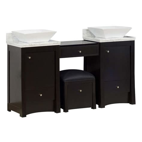 Kimbrell Transitional Wall Mount 61 Double Bathroom Vanity Set