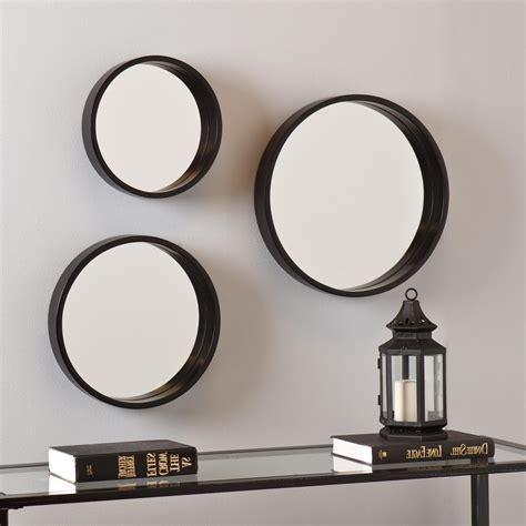 Kimzey Antique Silver Wall Mirror (Set Of 3)