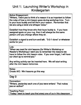 Kindergarten-Writers-Workshop-Lesson-Plans