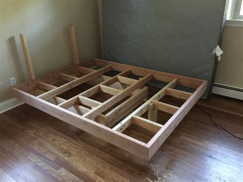 King Floating Bed Diy Plans