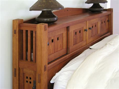 King Headboard Plans Bookcase Bed
