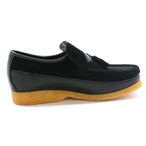 King Old School Slip On Black Suede Shoes