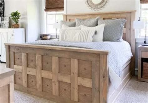 King Panel Bed Plans