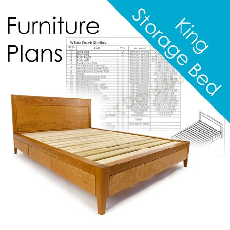 King Platform Bed Carpentry Plans