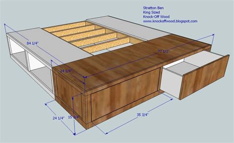 King Platform Bed Plans With Drawers