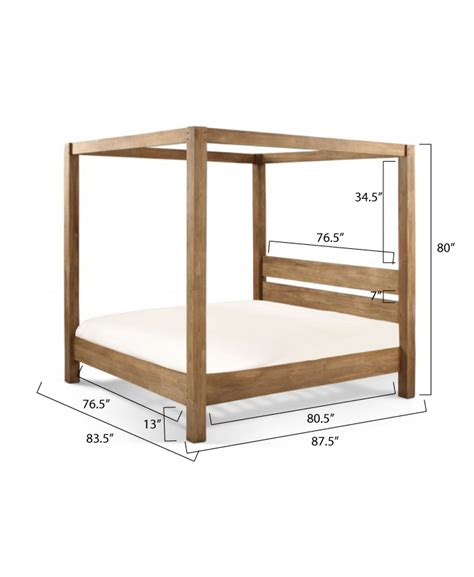 King Size Canopy Bed Woodworking Plans
