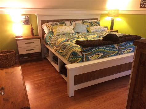 King Size Farmhouse Bed With Storage Plans