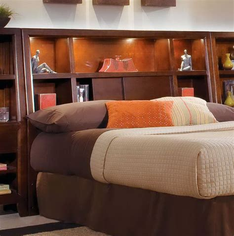 King-Size-Bookcase-Headboard-With-Lights-Plans