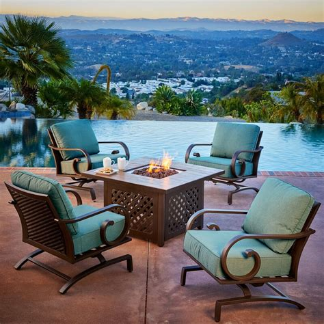 Kingston Seymour 5 Piece Conversation Set With Cushions