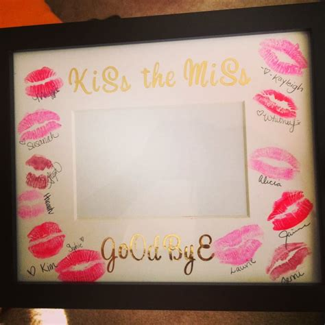 Kiss The Miss Goodbye Frame DIY