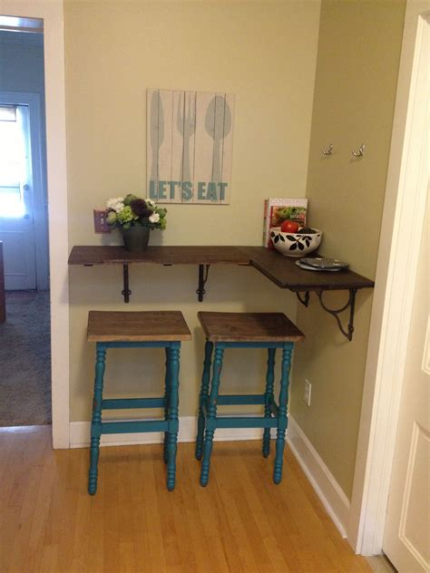 Kitchen Bar Table Diy With Shelf
