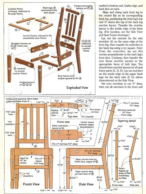 Kitchen Chair Woodworking Plans