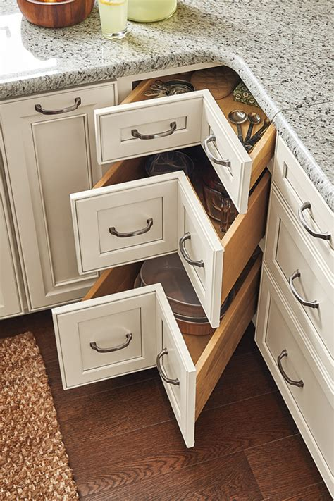Kitchen Corner Base Cabinet With Drawers