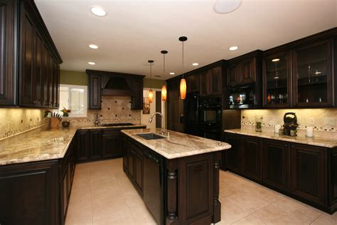 Kitchen Decor Dark Cabinets