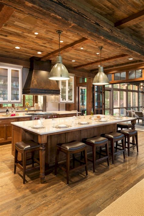 Kitchen Island Designs Rustic