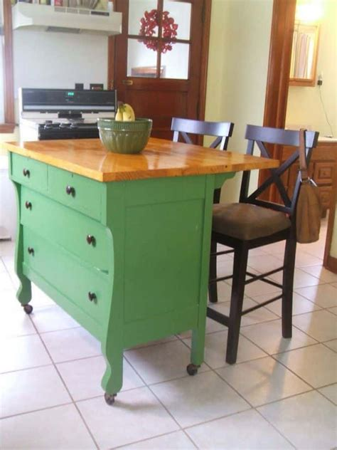 Kitchen Island Ideas With Repurposed Dresser