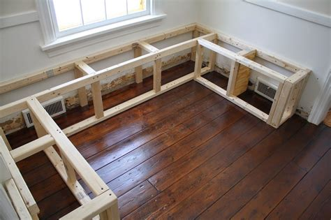 Kitchen Nook Table Diy With Shelf