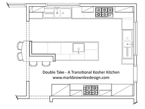 Kitchen Plans With Island In Cad