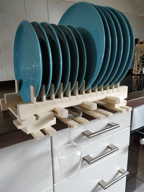 Kitchen Plate Rack Plans