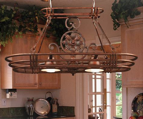 Kitchen Pot Rack With Lights