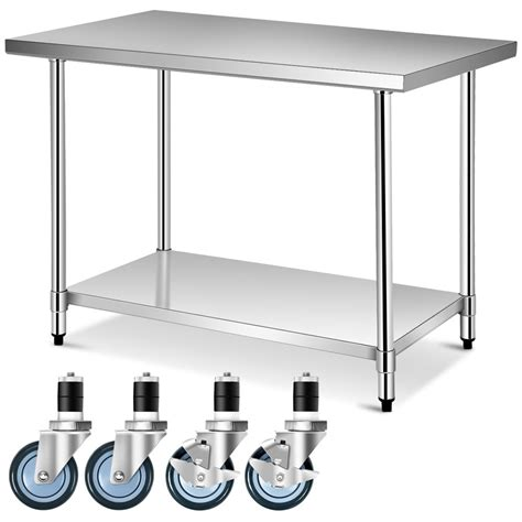 Kitchen Prep Table With Casters 36 X30