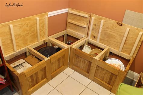 Kitchen Storage Bench Diy