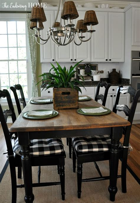 Kitchen Table Makeover With Granite