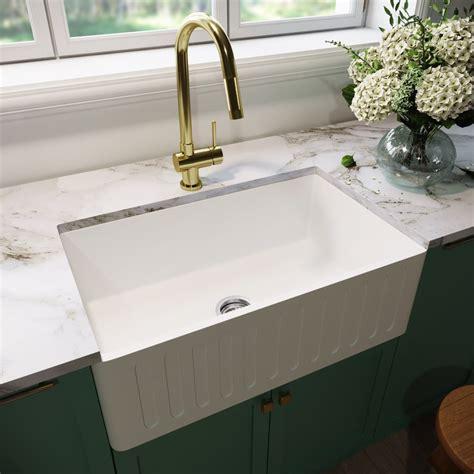 Kitchen Sink At Lowes Farmhouse Style Me Farm Sinks Lowest Price White Undermount Kitche