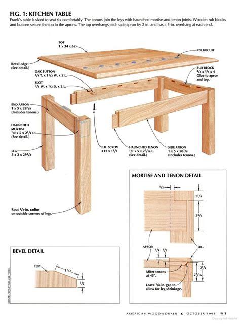 Kitchen-Table-Woorworking-Plans