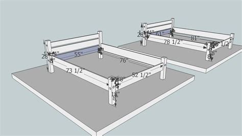Knock Down Bed Frame Plans