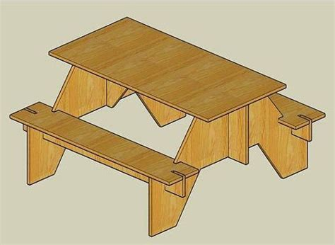 Knock Down Picnic Table Plans