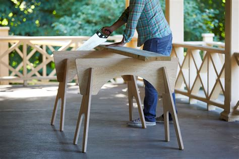 Knock Down Plywood Saw Horses