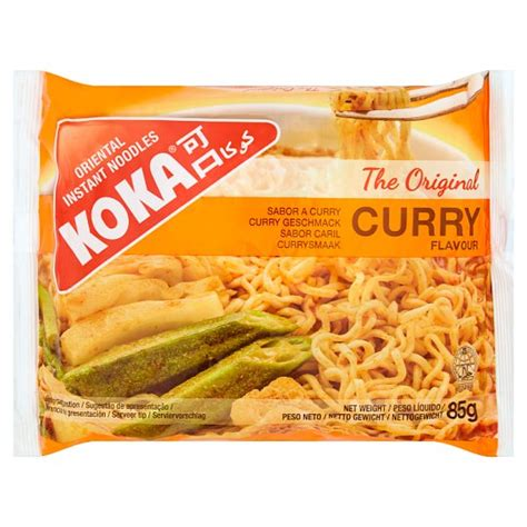 Koka Instant Noodles Curry Flavor 85g. Pack5