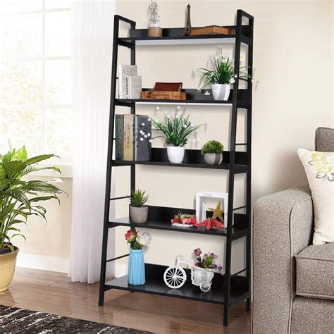 Korean Diy Book Storage 5 Tier Metal Shelf