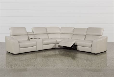 Kristen Silver Grey 6 Pc Recliner Sectional