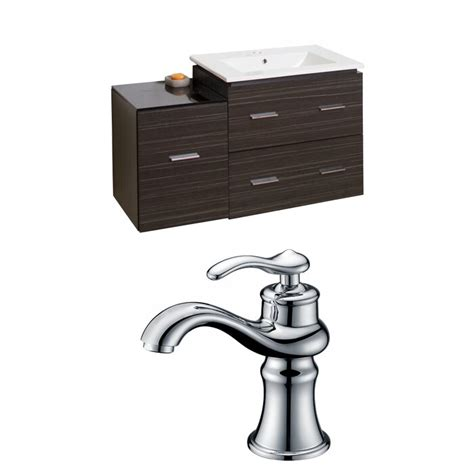 Kyra 24 Multi-Layer Stain Rectangle Single Bathroom Vanity Set