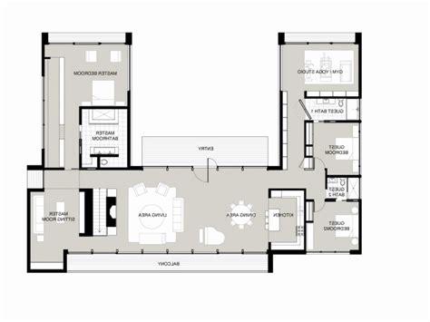 L Shaped House Plans 2 Story With Garage