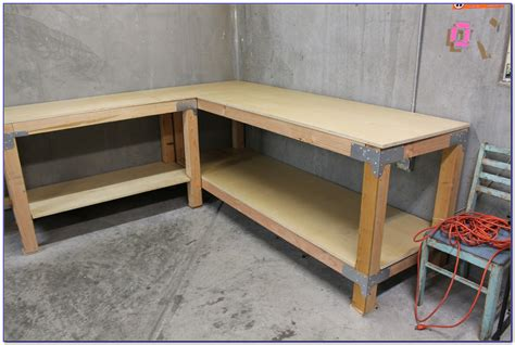 L Shaped Workbench Plans With Drawers