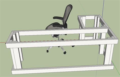 L shaped desk plans to build Image
