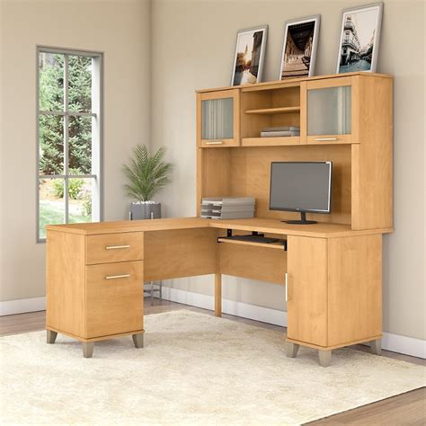 L-Shaped-Computer-Desk-With-Hutch-Plans