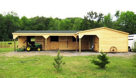 L-Shaped-Horse-Barn-Plans-For-Sale